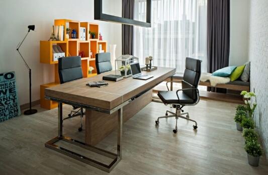 Desain Memanjang Ruang Untuk Tamu Klien Bisnis